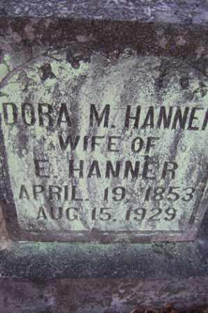 HANNER, DORA M - Crawford County, Arkansas | DORA M HANNER - Arkansas Gravestone Photos