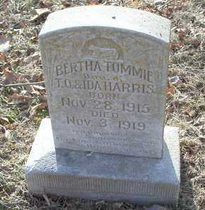 HARRIS, BERTHA TOMMIE - Crawford County, Arkansas | BERTHA TOMMIE HARRIS - Arkansas Gravestone Photos