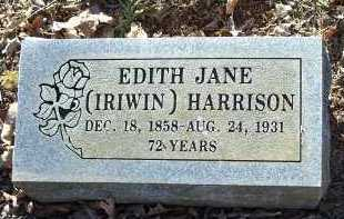 IRIWIN HARRISON, EDITH JANE - Crawford County, Arkansas | EDITH JANE IRIWIN HARRISON - Arkansas Gravestone Photos