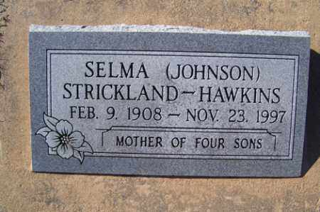 JOHNSON HAWKINS, SELMA - Crawford County, Arkansas | SELMA JOHNSON HAWKINS - Arkansas Gravestone Photos