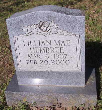 HEMBREE, LILLIAN MAE - Crawford County, Arkansas | LILLIAN MAE HEMBREE - Arkansas Gravestone Photos