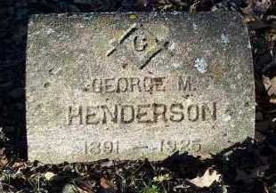 HENDERSON, GEORGE M. - Crawford County, Arkansas | GEORGE M. HENDERSON - Arkansas Gravestone Photos