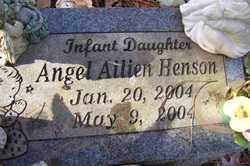 HENSON, ANGEL AILIEN - Crawford County, Arkansas | ANGEL AILIEN HENSON - Arkansas Gravestone Photos