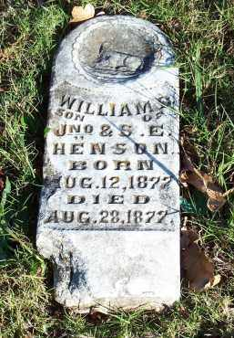 HENSON, WILLIAM S. - Crawford County, Arkansas | WILLIAM S. HENSON - Arkansas Gravestone Photos