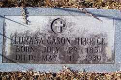 CASON HERRICK, LEURANA - Crawford County, Arkansas | LEURANA CASON HERRICK - Arkansas Gravestone Photos