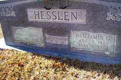 HESSLEN, BENJAMIN G - Crawford County, Arkansas | BENJAMIN G HESSLEN - Arkansas Gravestone Photos