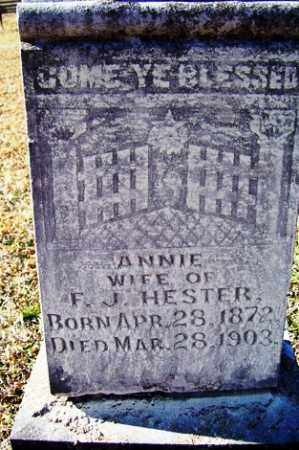 HESTER, ANNIE - Crawford County, Arkansas | ANNIE HESTER - Arkansas Gravestone Photos