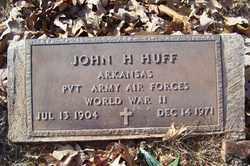 HUFF (VETERAN WWII), JOHN H - Crawford County, Arkansas | JOHN H HUFF (VETERAN WWII) - Arkansas Gravestone Photos