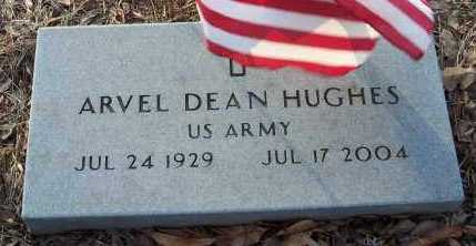 HUGHES  (VETERAN), ARVEL DEAN - Crawford County, Arkansas | ARVEL DEAN HUGHES  (VETERAN) - Arkansas Gravestone Photos