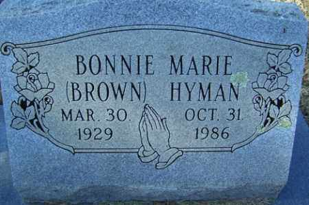 BROWN HYMAN, BONNIE MARIE - Crawford County, Arkansas | BONNIE MARIE BROWN HYMAN - Arkansas Gravestone Photos