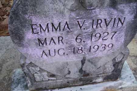 IRVIN, EMMA V - Crawford County, Arkansas | EMMA V IRVIN - Arkansas Gravestone Photos