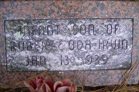 IRVIN, INFANT SON - Crawford County, Arkansas | INFANT SON IRVIN - Arkansas Gravestone Photos
