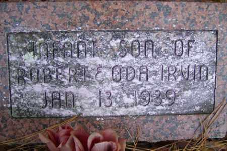 IRVIN, INFANT SON - Crawford County, Arkansas | INFANT SON IRVIN - Arkansas Gravestone Photos
