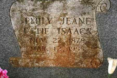 ETTIE ISAACS, EMILY JEANE - Crawford County, Arkansas   EMILY JEANE ETTIE ISAACS - Arkansas Gravestone Photos