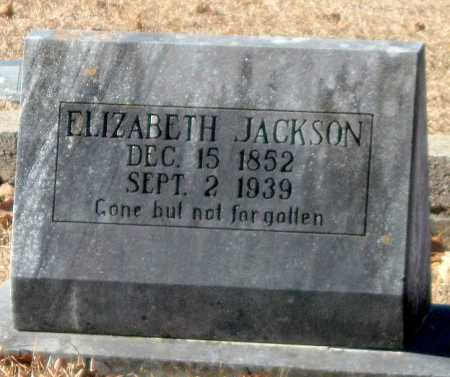 JACKSON, ELIZABETH - Crawford County, Arkansas | ELIZABETH JACKSON - Arkansas Gravestone Photos