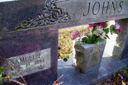 JOHNS, SAMUEL F - Crawford County, Arkansas | SAMUEL F JOHNS - Arkansas Gravestone Photos
