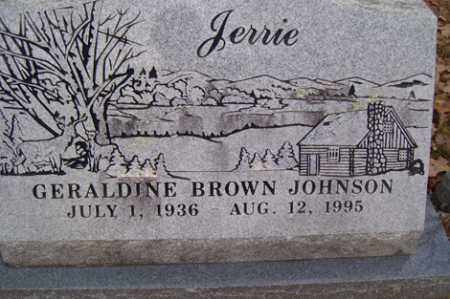 "BROWN JOHNSON, GERALDINE ""JERRIE"" - Crawford County, Arkansas 