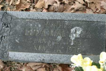 KECK, LUDA MAE - Crawford County, Arkansas | LUDA MAE KECK - Arkansas Gravestone Photos