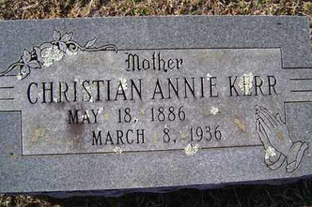 KERR, CHRISTIAN ANNIE - Crawford County, Arkansas | CHRISTIAN ANNIE KERR - Arkansas Gravestone Photos