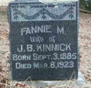 KINNICK, FANNIE - Crawford County, Arkansas | FANNIE KINNICK - Arkansas Gravestone Photos