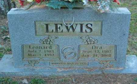 LEWIS, LEONARD J - Crawford County, Arkansas | LEONARD J LEWIS - Arkansas Gravestone Photos
