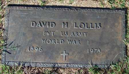 LOLLIS (VETERAN WWI), DAVID HOMER - Crawford County, Arkansas | DAVID HOMER LOLLIS (VETERAN WWI) - Arkansas Gravestone Photos