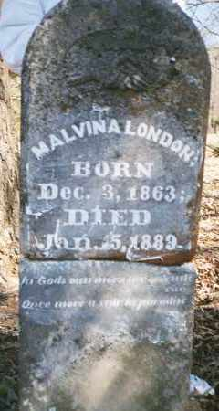 MORRIS LONDON, MALVINA - Crawford County, Arkansas | MALVINA MORRIS LONDON - Arkansas Gravestone Photos