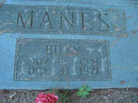 MANES, BILLY - Crawford County, Arkansas | BILLY MANES - Arkansas Gravestone Photos