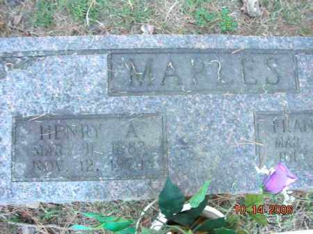 MAPLES, HENRY APPLETON - Crawford County, Arkansas | HENRY APPLETON MAPLES - Arkansas Gravestone Photos