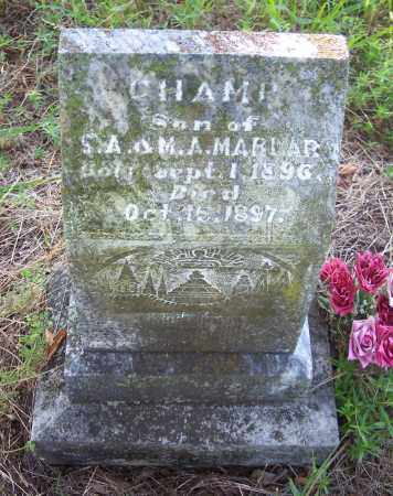 MARLAR, CHAMP - Crawford County, Arkansas | CHAMP MARLAR - Arkansas Gravestone Photos