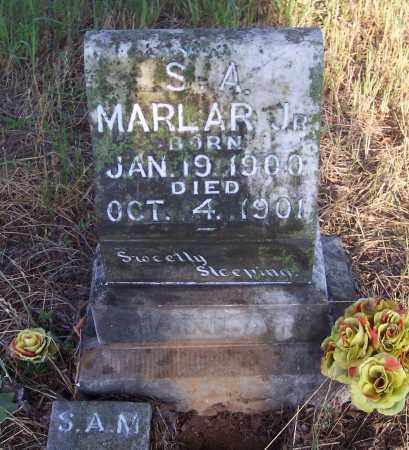MARLAR , JR, S. A. - Crawford County, Arkansas | S. A. MARLAR , JR - Arkansas Gravestone Photos