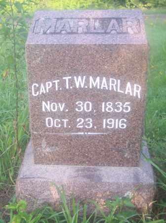 MARLAR (VETERAN CSA), T  W - Crawford County, Arkansas | T  W MARLAR (VETERAN CSA) - Arkansas Gravestone Photos