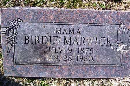 MARWICK, BIRDIE - Crawford County, Arkansas | BIRDIE MARWICK - Arkansas Gravestone Photos