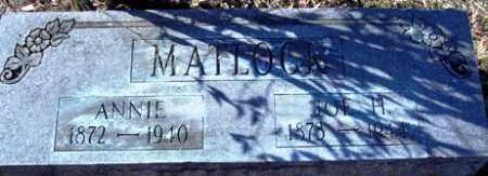 MATLOCK, ANNIE - Crawford County, Arkansas | ANNIE MATLOCK - Arkansas Gravestone Photos