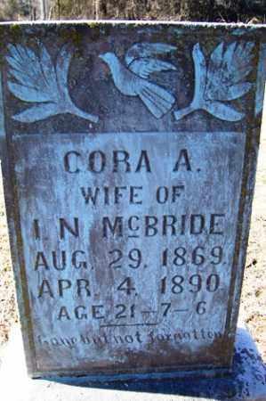 MCBRIDE, CORA A - Crawford County, Arkansas | CORA A MCBRIDE - Arkansas Gravestone Photos