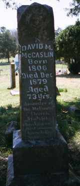 MCCASLIN, DAVID M. - Crawford County, Arkansas | DAVID M. MCCASLIN - Arkansas Gravestone Photos