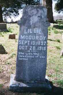 MCCURDY, LILLIE - Crawford County, Arkansas | LILLIE MCCURDY - Arkansas Gravestone Photos