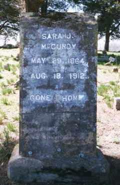 MCCURDY, SARAH JOANNA - Crawford County, Arkansas | SARAH JOANNA MCCURDY - Arkansas Gravestone Photos
