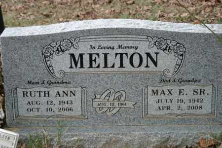 MELTON, SR., MAX E. - Crawford County, Arkansas | MAX E. MELTON, SR. - Arkansas Gravestone Photos