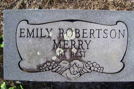 ROBERTSON MERRY, EMILY - Crawford County, Arkansas | EMILY ROBERTSON MERRY - Arkansas Gravestone Photos