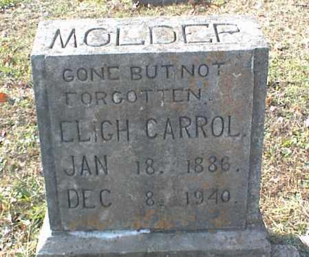 MOLDER, ELIGH CARROLL - Crawford County, Arkansas | ELIGH CARROLL MOLDER - Arkansas Gravestone Photos