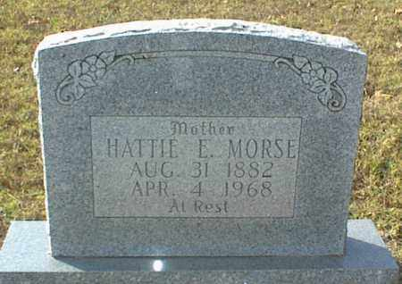 MORSE, HATTIE E. - Crawford County, Arkansas | HATTIE E. MORSE - Arkansas Gravestone Photos