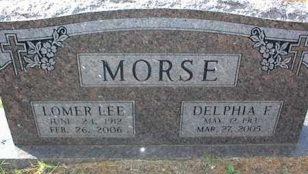 MORSE, LOMER LEE - Crawford County, Arkansas | LOMER LEE MORSE - Arkansas Gravestone Photos
