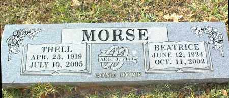 MORSE, THELL - Crawford County, Arkansas | THELL MORSE - Arkansas Gravestone Photos