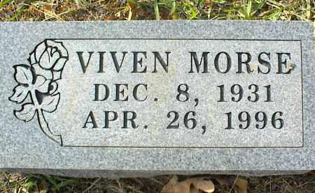 MORSE, VIVEN - Crawford County, Arkansas | VIVEN MORSE - Arkansas Gravestone Photos