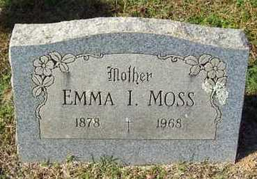 WILLIAMS MOSS, EMMA I. - Crawford County, Arkansas | EMMA I. WILLIAMS MOSS - Arkansas Gravestone Photos