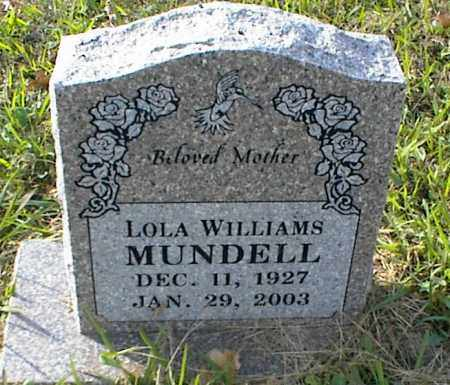 WILLIAMS MUNDELL, LOLA - Crawford County, Arkansas | LOLA WILLIAMS MUNDELL - Arkansas Gravestone Photos