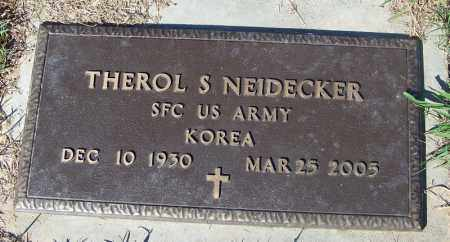 NEIDECKER (VETERAN KOR), THEROL S - Crawford County, Arkansas | THEROL S NEIDECKER (VETERAN KOR) - Arkansas Gravestone Photos