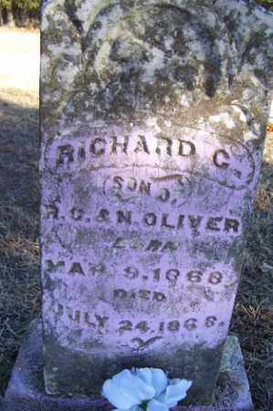 OLIVER, RICHARD C - Crawford County, Arkansas | RICHARD C OLIVER - Arkansas Gravestone Photos