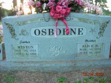 OSBORNE, ALICE R. - Crawford County, Arkansas | ALICE R. OSBORNE - Arkansas Gravestone Photos